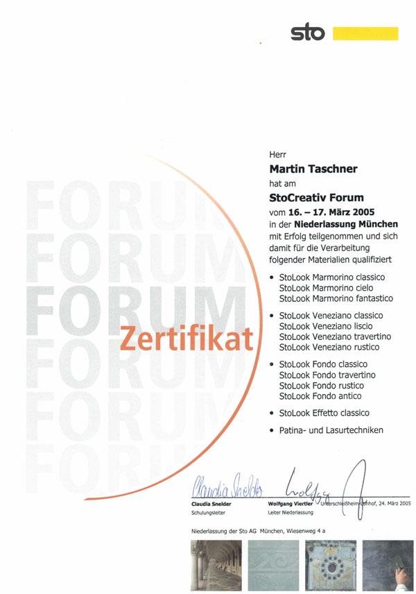 Maler_Taschner_Zertifikat1